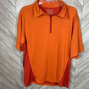 Merrell opti-wick upf 20 orange athletic shirt. Lg